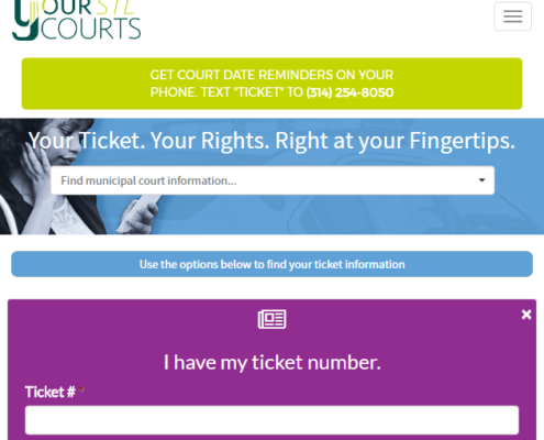 YourSTLCourts Mobile Website