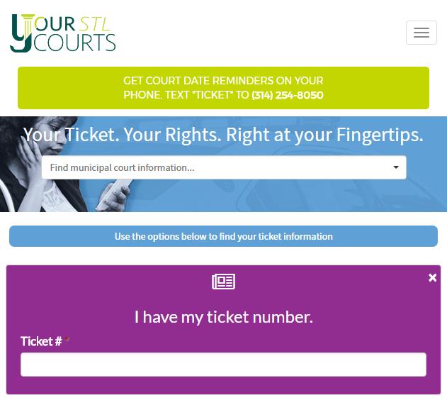 YourSTLCourts Mobile Website